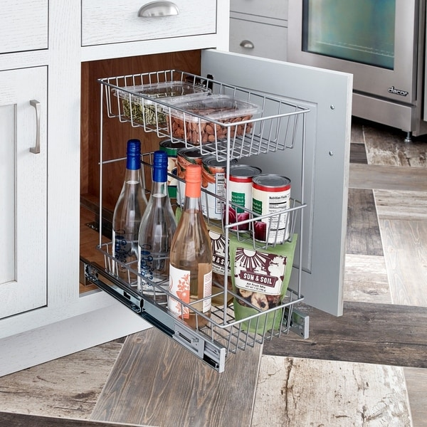 ClosetMaid Premium 8.75 Inch 3 Tier Compact Cabinet Pull Out Basket