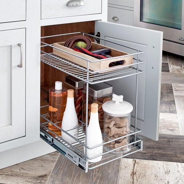 ClosetMaid Premium 11.5 Inch 2 Tier Cabinet Pull Out Basket