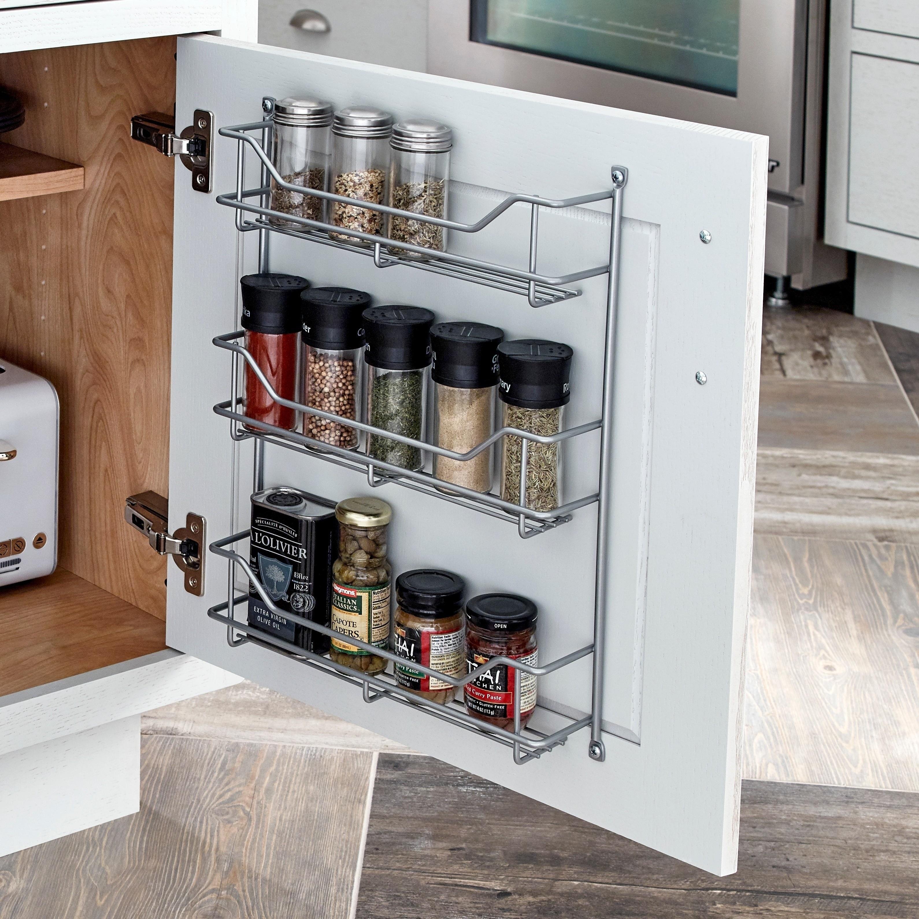 Closetmaid Premium 3-shelf Spice Rack (Platinum), Silver