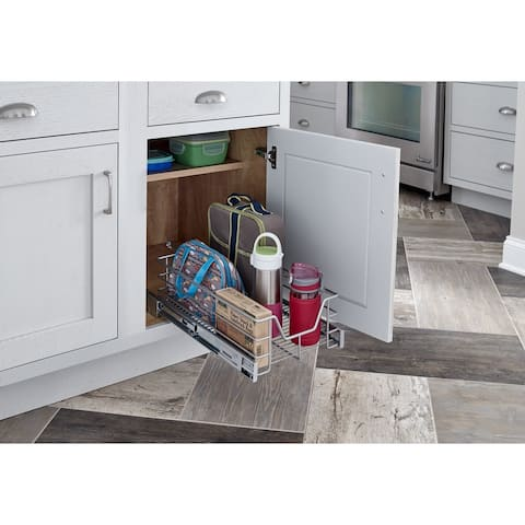 ClosetMaid Premium Silver 15.5-inch Single-tier Cabinet Pull-out Basket