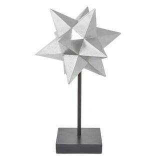 Three Hands Silver Resin Star Tabletop Decor