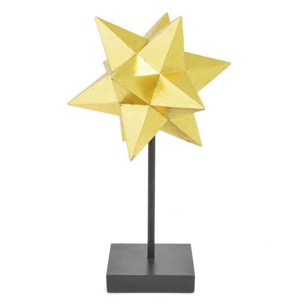 Three Hands Gold Resin Star Tabletop Decor