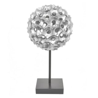 Three Hands Resin Spiked Tabletop Decor -Silver
