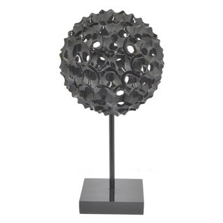 Three Hands Resin Spiked Tabletop Decor - Black