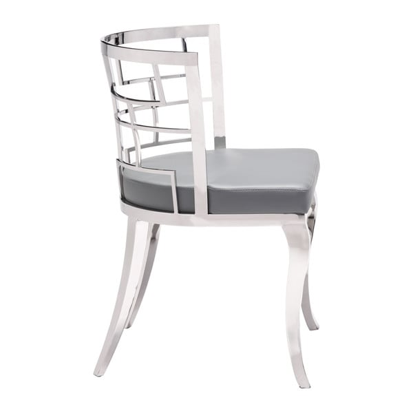 Shop Quince Stainless Steel Faux Leather Dining Chair in ...