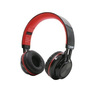 DS18 Red Noise Isolating Over Ear Foldable Bluetooth Headphone with Mic and FM Radio