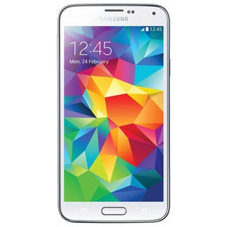 Samsung Galaxy S5 G900A 16GB AT&T Unlocked GSM Quad-Core 4G LTE White Android Phone with mophie 2327 Juice Pack