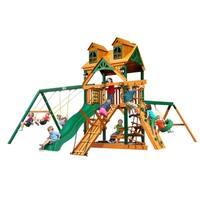 Gorilla Playsets Malibu Frontier Cedar Swing Set with Timber Shield Posts