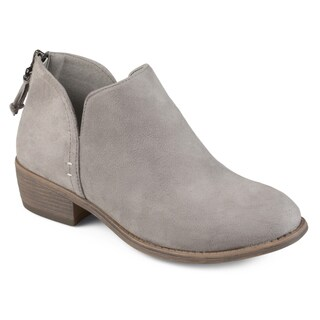 Journee Collection 'Livvy' Women's Faux Suede Comfort Sole Tassel Booties