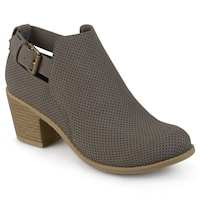 Journee Collection Women's 'Averi' Buckle Laser Dot Booties