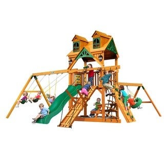 Gorilla Playsets Natural Cedar Malibu Frontier Swing Set