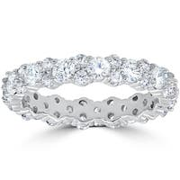 14k White Gold 2 ct TDW Diamond Wedding Ring Womens Anniversary Stackable Band