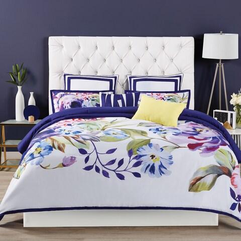 Christian Siriano Garden Bloom 3-piece Comforter Set - Purple