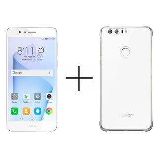 HUAWEI Honor 8 32GB Unlocked GSM 4G LTE Quad-Core Android Phone - Pearl White + HUAWEI Honor 8 PC Case - White