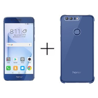 HUAWEI Honor 8 32GB Unlocked GSM 4G LTE Quad-Core Android Phone - Sapphire Blue + HUAWEI Honor 8 PC Case - Blue