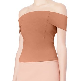Michelle Mason Women's Nude Off-shoulder Top