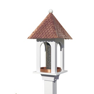Extra-Large Seed Capacity Bird Feeder with Pure Copper Roof, Composite PVC Base