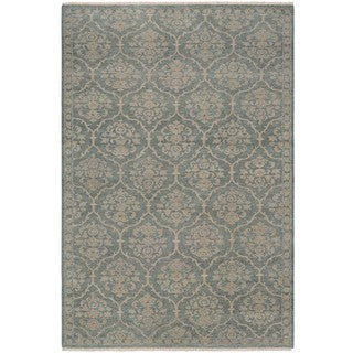 Couristan Tenali Floral Arabesque Sage Green New Zealand Wool Area Rug (8' x 11'3)