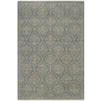 "Couristan Tenali Floral Arabesque Sage Green Wool Area Rug - 8' x 11'3"""
