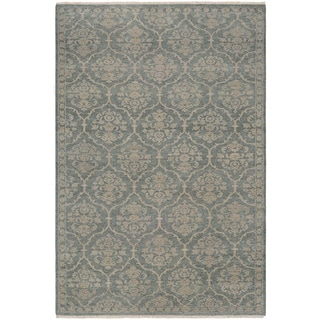 Couristan Tenali Floral Arabesque/Sage Green Wool Area Rug - 5'6 x 8'9