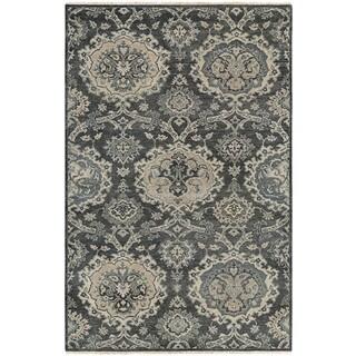 Couristan Tenali Malayer Grey New Zealand Wool Area Rug (2' x 4')