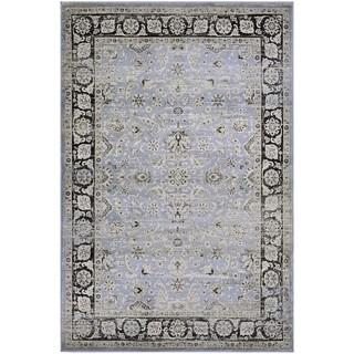 Couristan Zahara Serab/Slate Blue/Black Area Rug (7'10 x 11'2)
