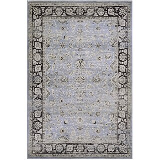 Couristan Zahara Serab/Slate Blue/Black Area Rug (3'11 x 5'3)