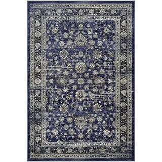 Couristan Zahara Floral Ferahan/Navy-Creme Area Rug - 5'3 x 7'6
