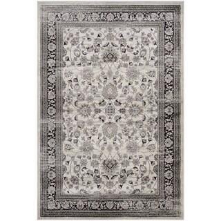 Couristan Zahara Floral Ferahan/Creme-Black Area Rug - 5'3 x 7'6