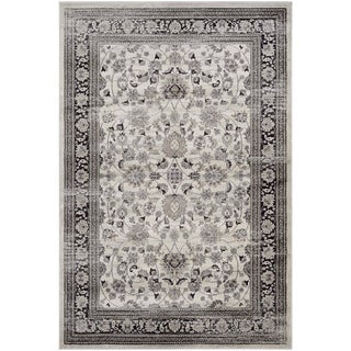 Couristan Zahara Floral Ferahan/Creme/Black Area Rug (3'11 x 5'3)