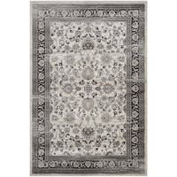 Couristan Zahara Floral Ferahan/Creme-Black Area Rug - 3'11 x 5'3