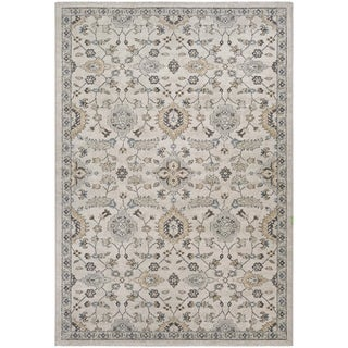Couristan Traditions Yazd Oyster/Spice Polypropylene Area Rug (3'11 x 5'3)