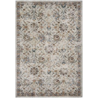 Couristan Traditions All-over Floral Oyster/Spice Polypropylene Area Rug (5'3 x 7'6)