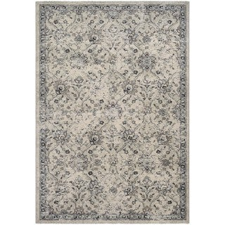 Couristan Traditions All Over Floral/Oyster-Pepper Area Rug (2' x 3'7)