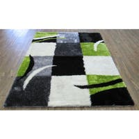 Alliyah Hand Made Tufted Jet Black New Zeeland Blend Wool