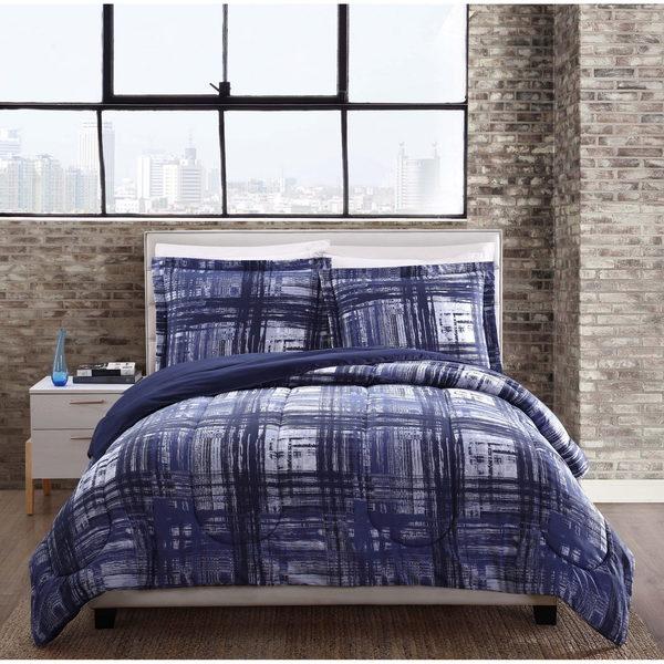 Style 212 Fulton Plaid Reversible Comforter 3-piece Set