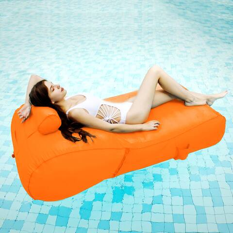 OVE Decors Aqua sunlounger - Inflatable pool float (Orange)