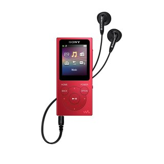Sony 8GB NW-E394 Series Walkman Digital Music Player (Red)