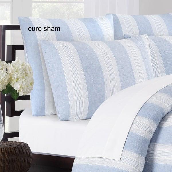 Vintage Stripe Washed Belgian Linen Euro Shams (Set of 2)