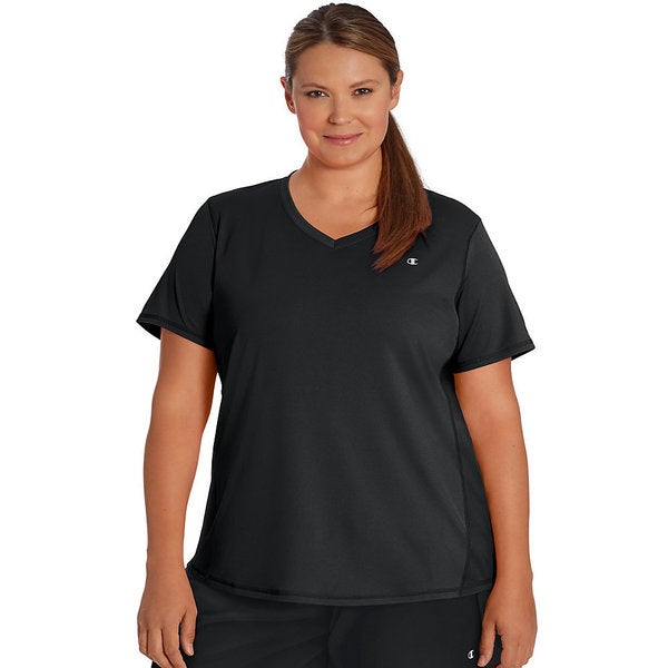 08d20423 Shop Champion Vapor Select Women's Plus T-shirt - Free Shipping On ...