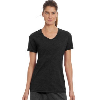 Champion Women's Vapor Cotton V-neck Tee