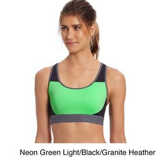 Champion Women's The Absolute Workout Sports Bra (Option: XSmall - Neon Green Light/Black/Granite Heather)