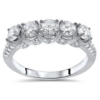 Noori 14k White Gold 1ct TDW White Diamond Wedding Anniversary Band (G-H, SI1-SI2)