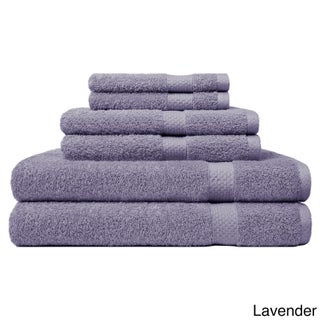 Carefree Comforts Ring Spun Turkish Cotton 6-Piece Towel Set (Option: Lavender)