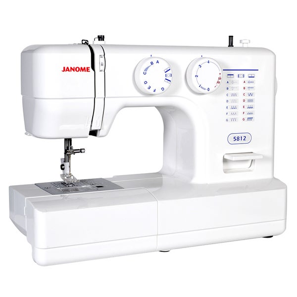 Janome easy to use 5812 sewing machine with top drop in for Arts and crafts sewing machine