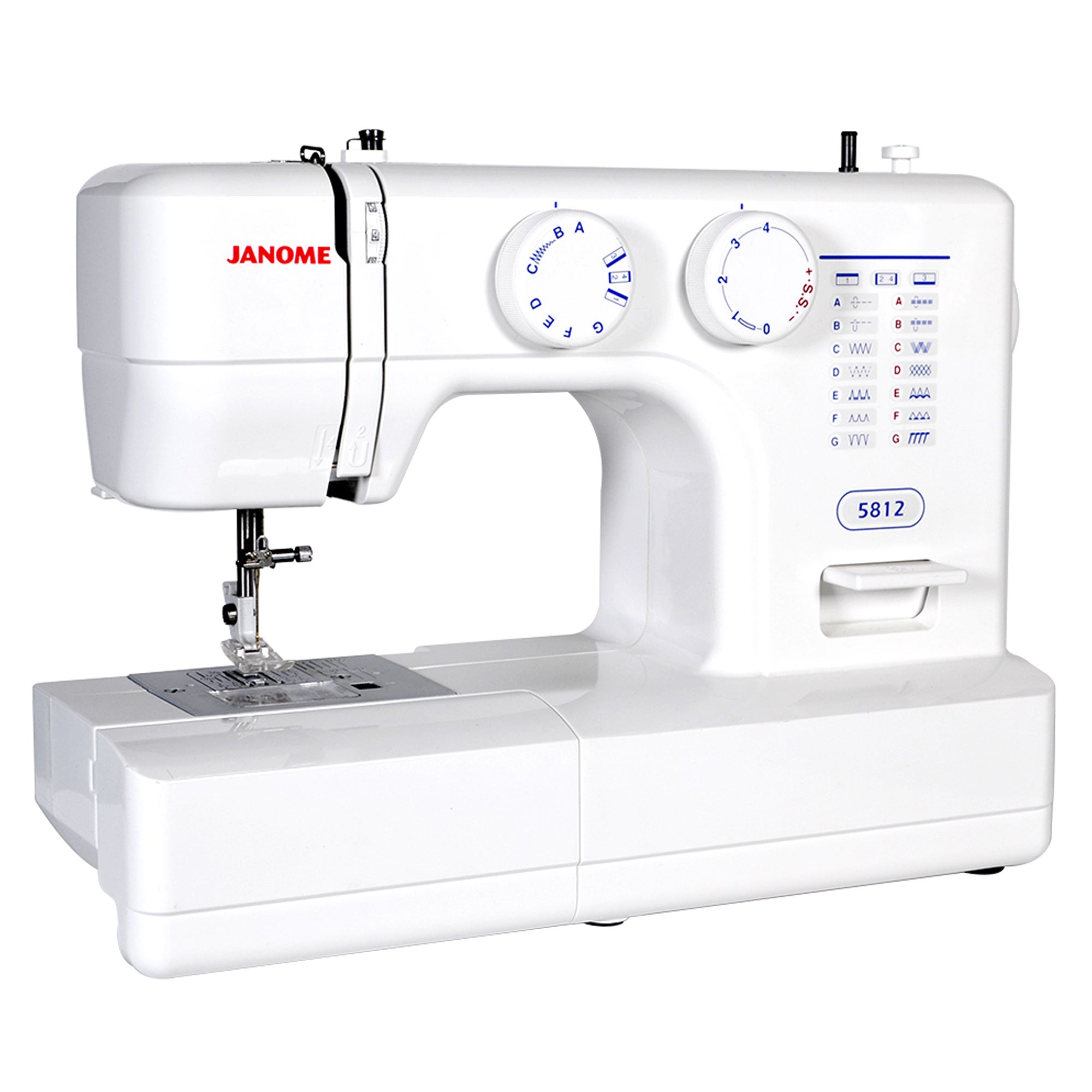 Janome Easy-to-Use 5812 Sewing Machine with Top Drop-In B...