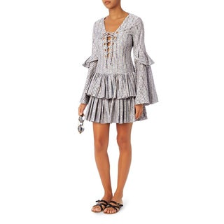 Caroline Constas Anastasia Striped Ruffle Dress
