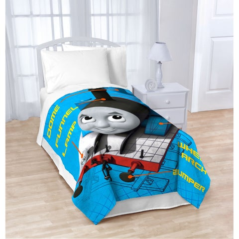 Thomas The Tank Engine T-Block Fleece Twin Blanket