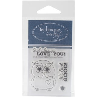 Technique Tuesday Clear Stamps 2X2.5-It's Owl Good