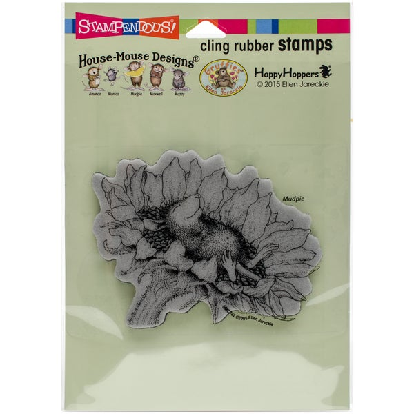 Stampendous House Mouse Cling Stamp 4.5X5.5-Sunflower Smile